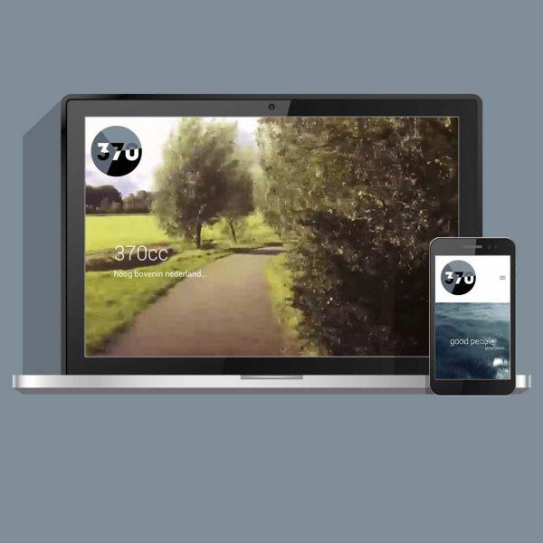 Meertalige website ontwikkeling, webdesign en animatie voor 370cc