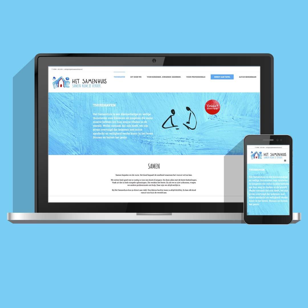 Huisstijl, logo en website voor CBP Het Samenhuis