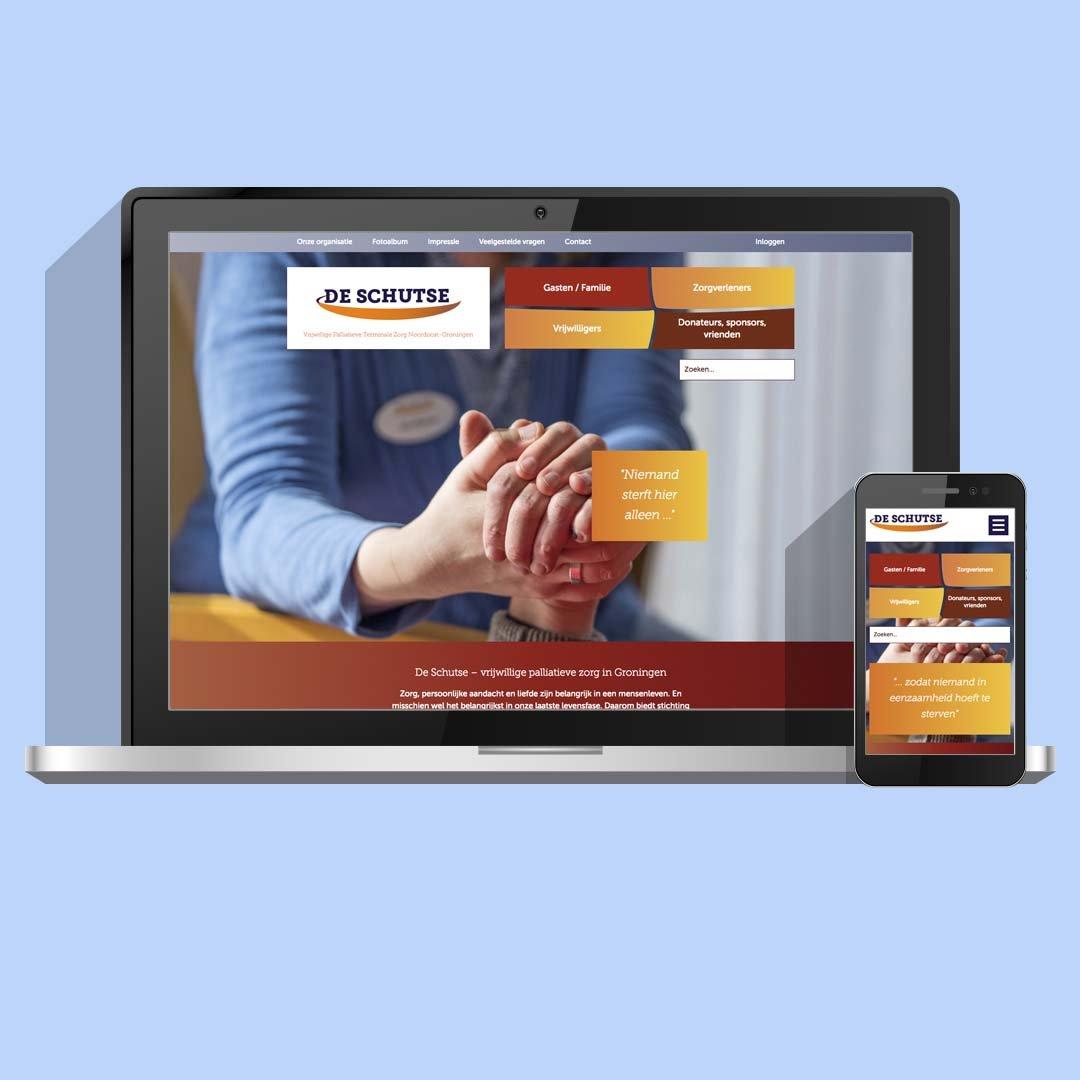 Zorg website ontwerp voor Hospice De Schutse