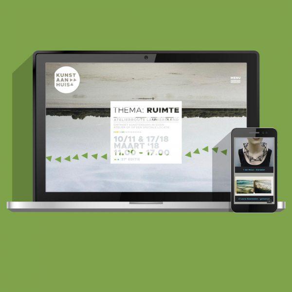 Website ontwerpen voor samenwerking, website ontwerp en bouw voor het samenwerkingsverband Kunstroute Lauwersmeer