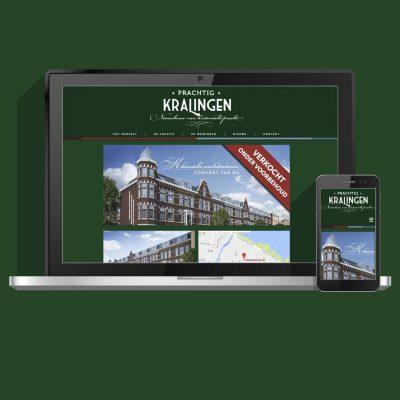 Webdesign voor vastgoed website Prachtig Kralingen van Woonstad