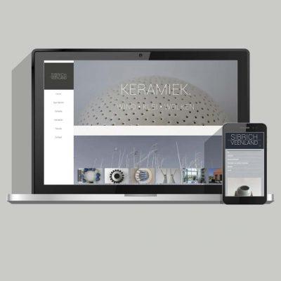Grafisch ontwerp en kunst website ontwikkeling voor Sibrich Veenland