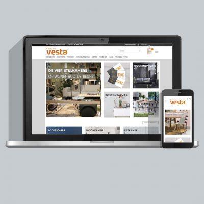 Webshop ontwerp en ontwikkeling voor Vesta Groningen