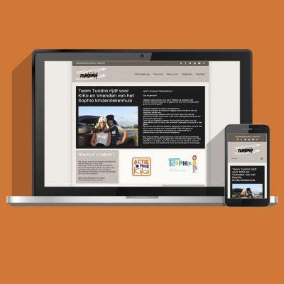 Website migratie en ontwikkeling voor Stichting Team Tundra