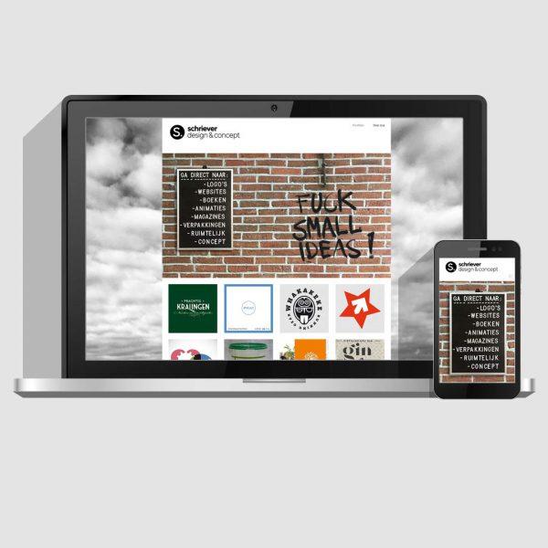 Webdesign en ontwikkeling | Portfolio website | Schriever design en concept