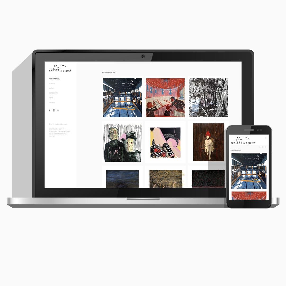 Kunst portfolio website | Kristi Neider | Wepsaait.nl