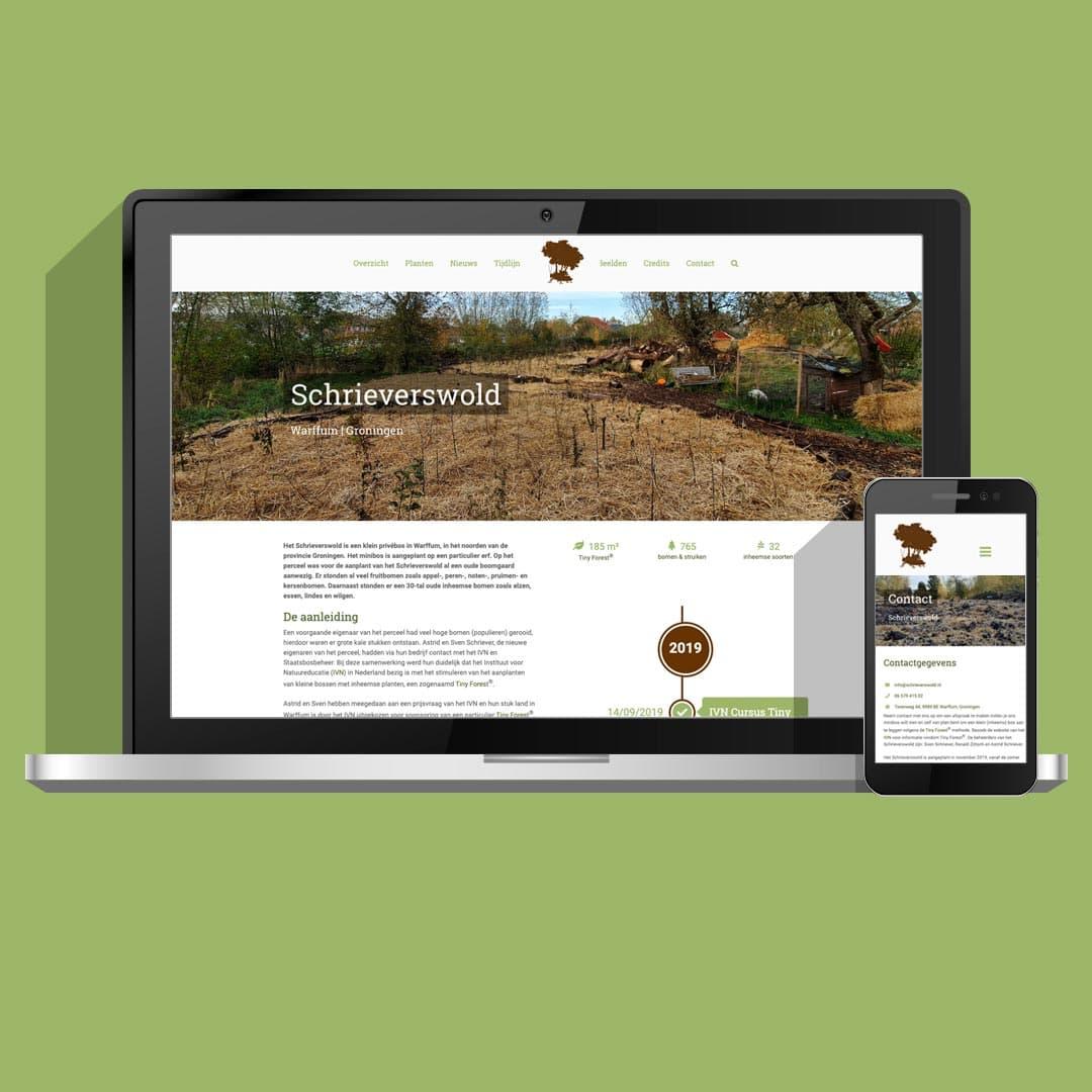 Schrieverswold | Non-profit website | Wepsaait